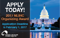 Apply Today for the 2017 NLIHC Organizing Award!