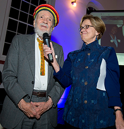 From left: Louis Dolbeare and former NLIHC President and CEO Sheila Crowley at NLIHC's 40th Anniversary Gala in November, 2014