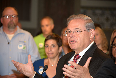 Senator Robert Menendez (D-NJ) Addresses Attendees at the NJ Hill Day