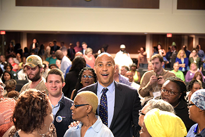 Senator Cory Booker (D-NJ) Chats with Attendees at the NJ Hill Day