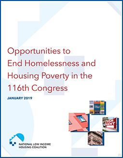 Opportunities to End Homelessness and Housing Poverty in the 116th Congress