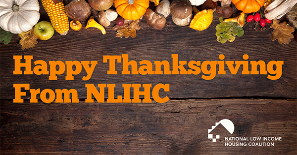 Happy Thanksgiving From NLIHC!