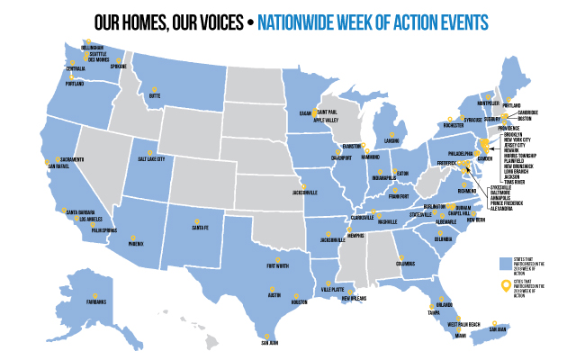 Our Homes, Our Voices, Nationwide Week of Events!