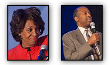 Maxine Waters and Ben Carson