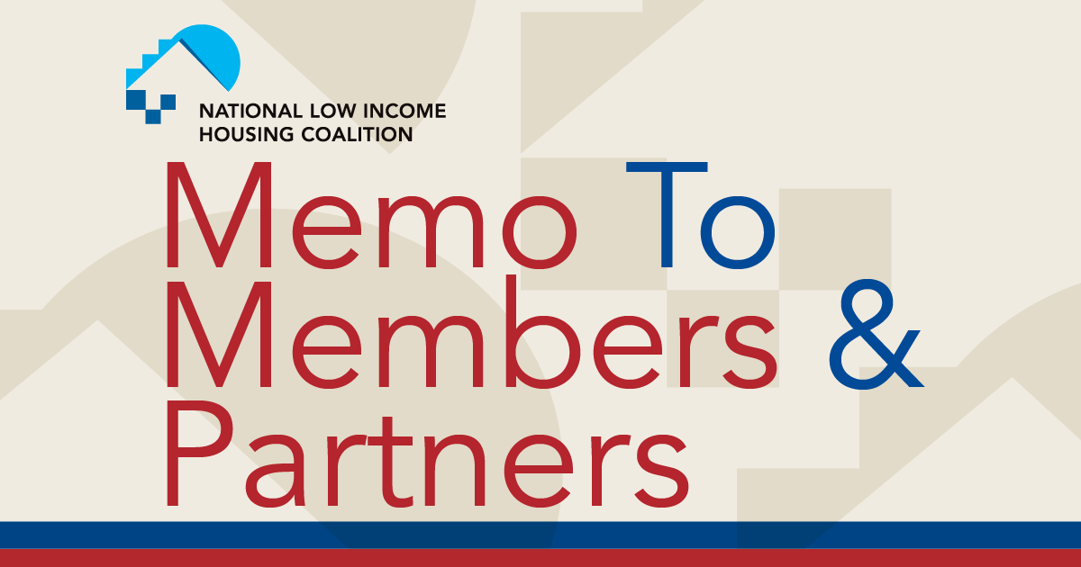 Memo to Members & Partners | Volume 25, Issue 47