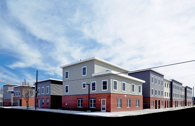 Grace Townhomes formed by the Community Justice Land Trust. Photo: Domus, Inc